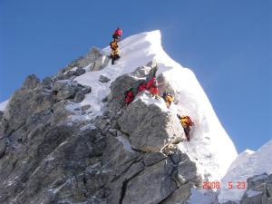 Mt everest climbers